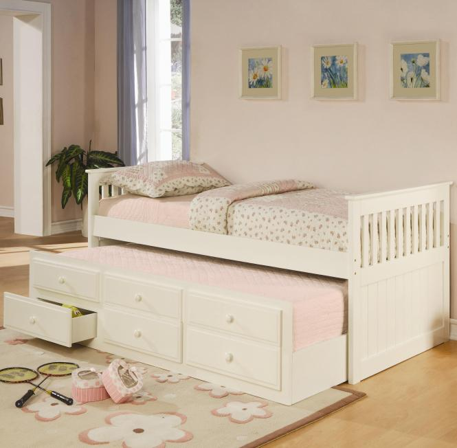 Coaster La Salle Twin Captain S Bed With Trundle And Storage Drawers Fine Furniture