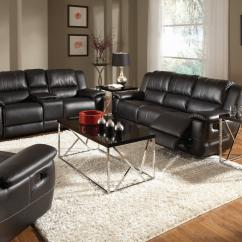 Black Reclining Sofa With Console Seat Covers In Kenya Coaster Lee Living Room Group Dunk Bright Furniture