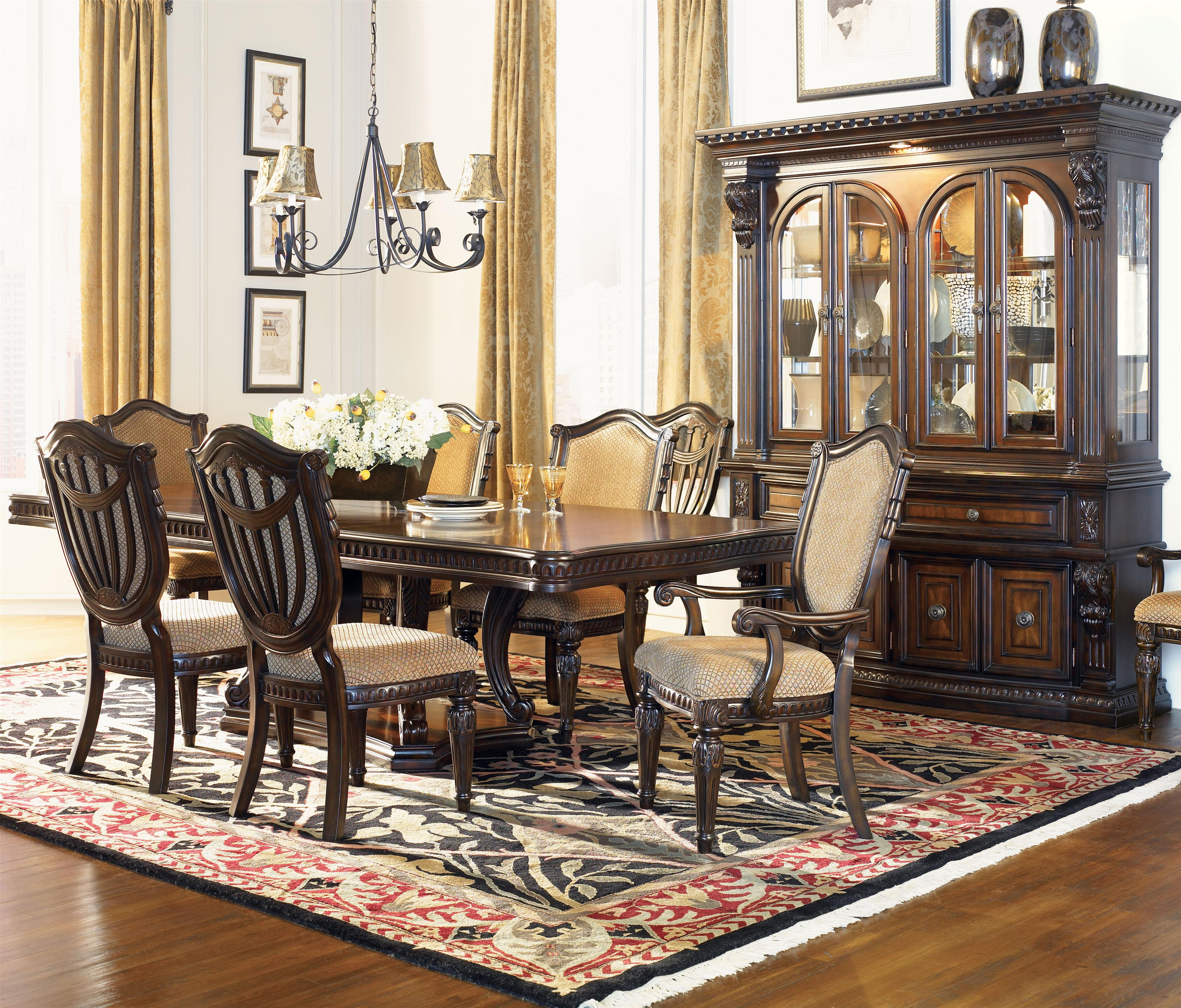 king furniture dining chairs tall table and fairmont designs grand estates formal room group royal