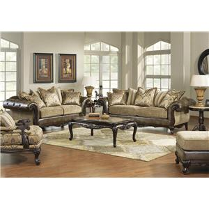 Hm Richards Vanity Traditional Loose Pillow Back Sofa With Exposed Wood