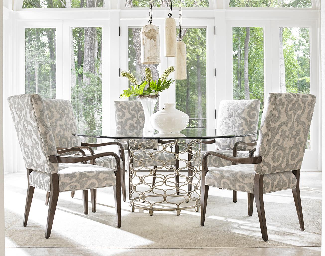lexington dining chairs muji floor chair australia laurel canyon six piece set with bollinger table and sierra customizable