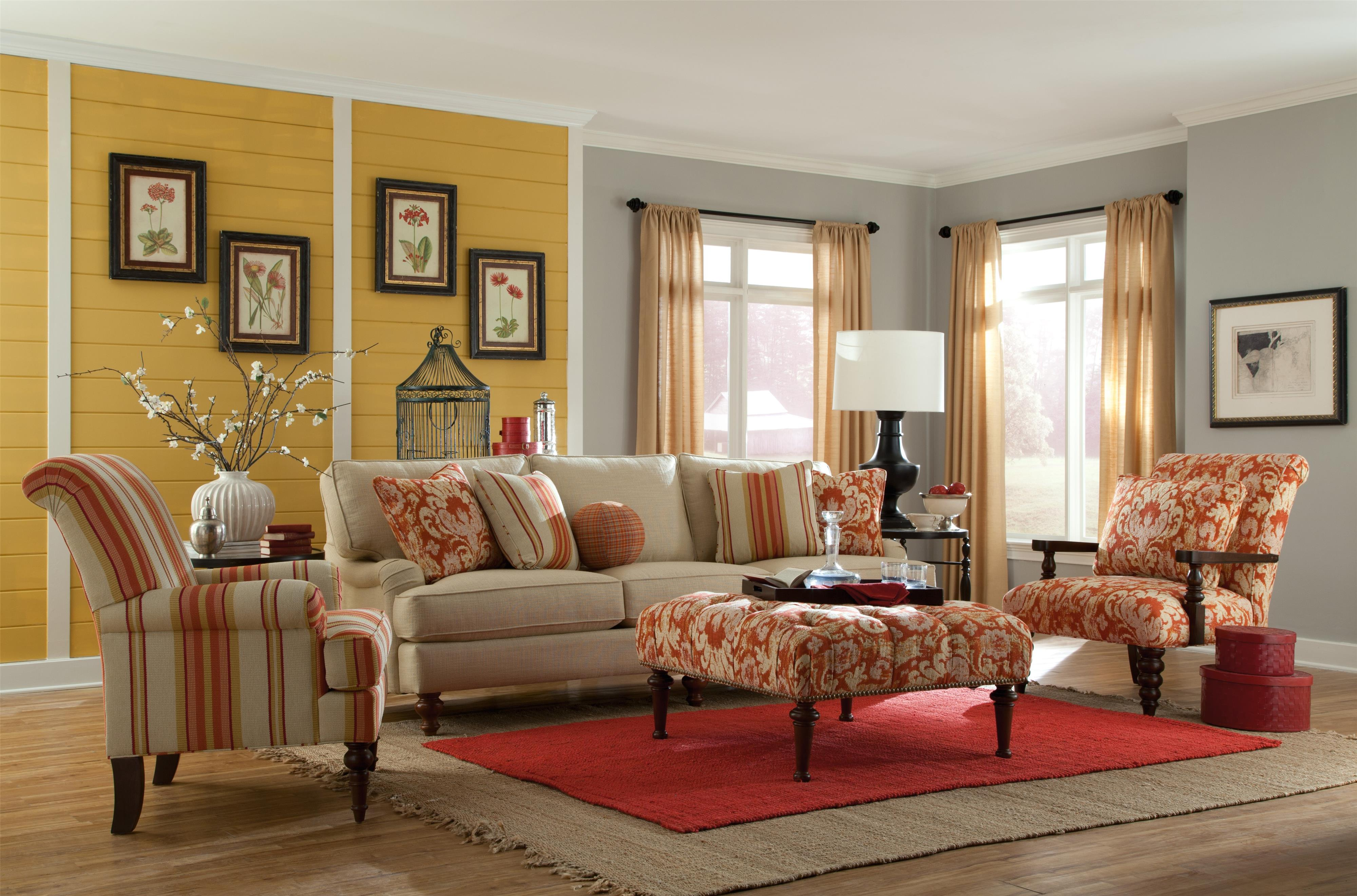 paula deen living room furniture collection victorian style upholstered accents special order uph by craftmaster hudson s