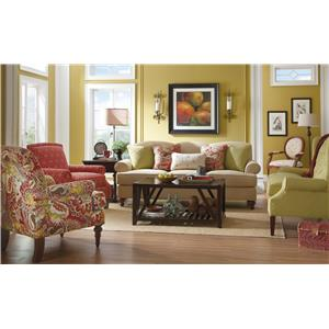 paula deen living room furniture collection contemporary lounge chairs upholstered accents special order uph by craftmaster powell s and mattress