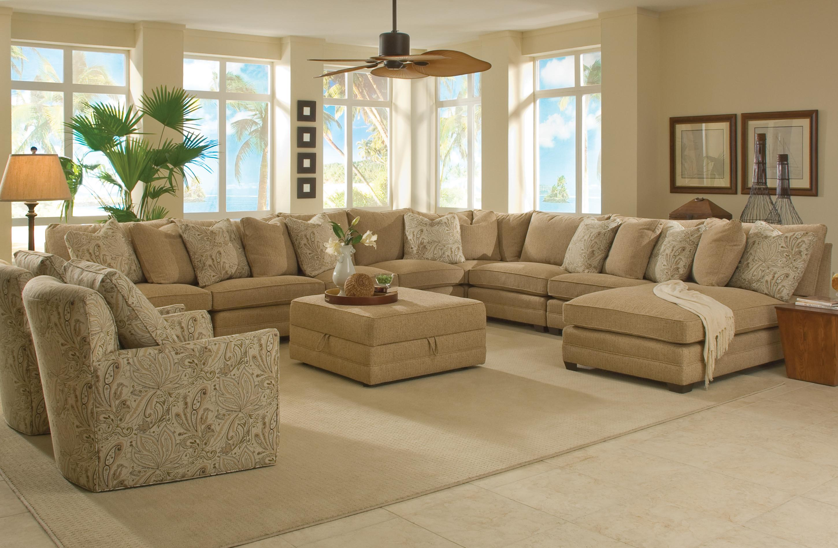 Sam Moore Margo Extra Wide Sectional Sofa Stuckey Furniture