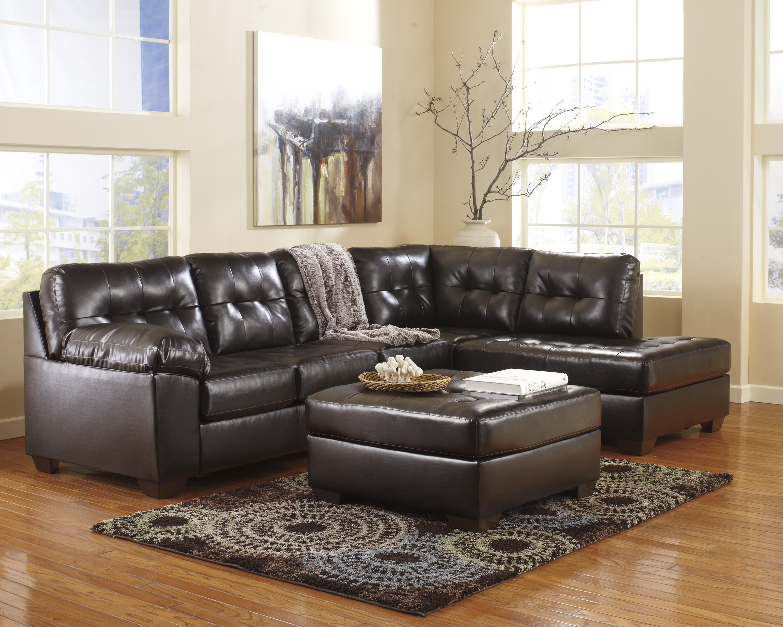 ashley furniture durablend sleeper sofa environmentally friendly sofas uk signature design by alliston chocolate sectional w right chaise tufting turk joliet la salle kankakee