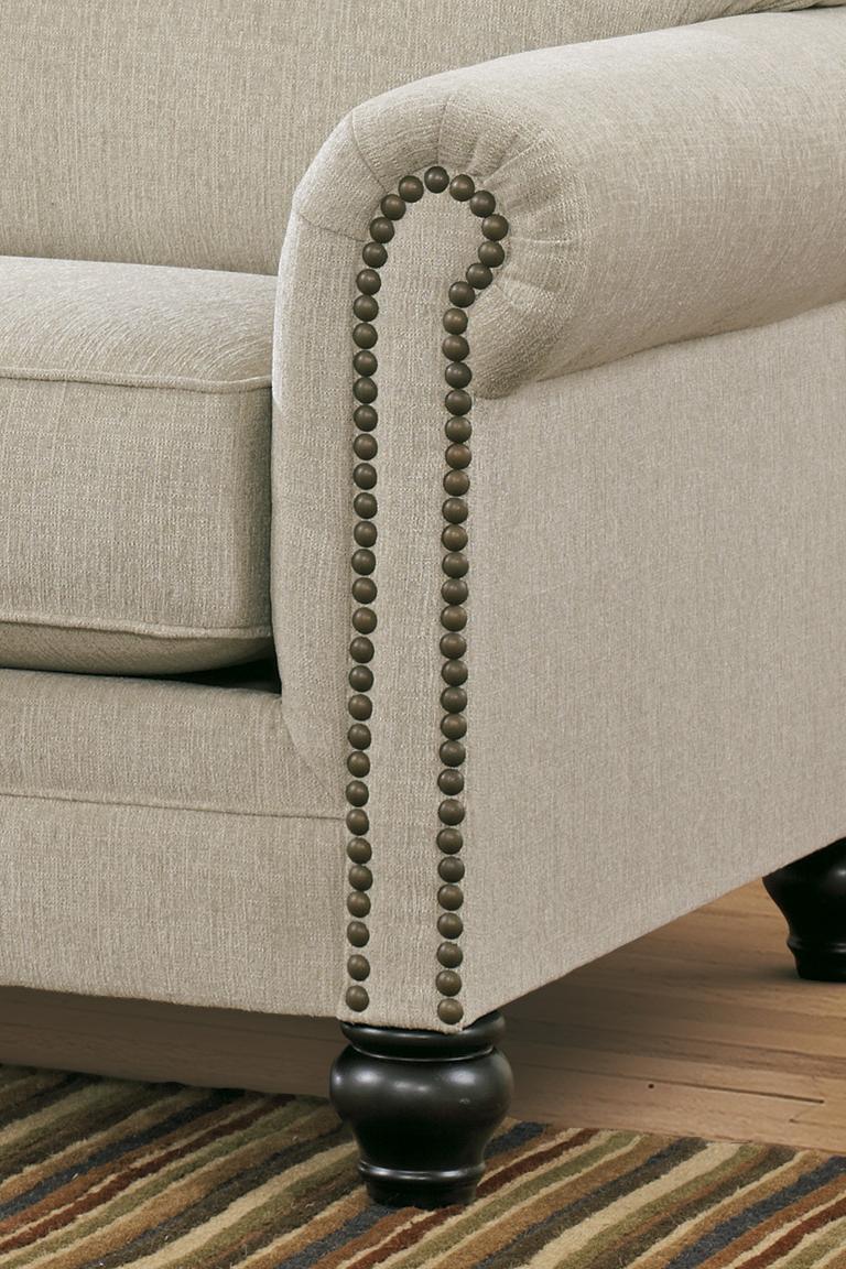 Signature Design By Ashley Milari Linen Transitional Queen Sofa