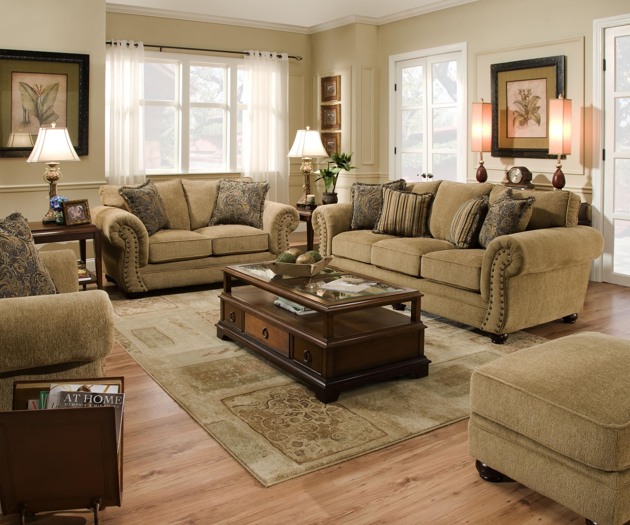Simmons Upholstery 4277 Stationary Living Room Group