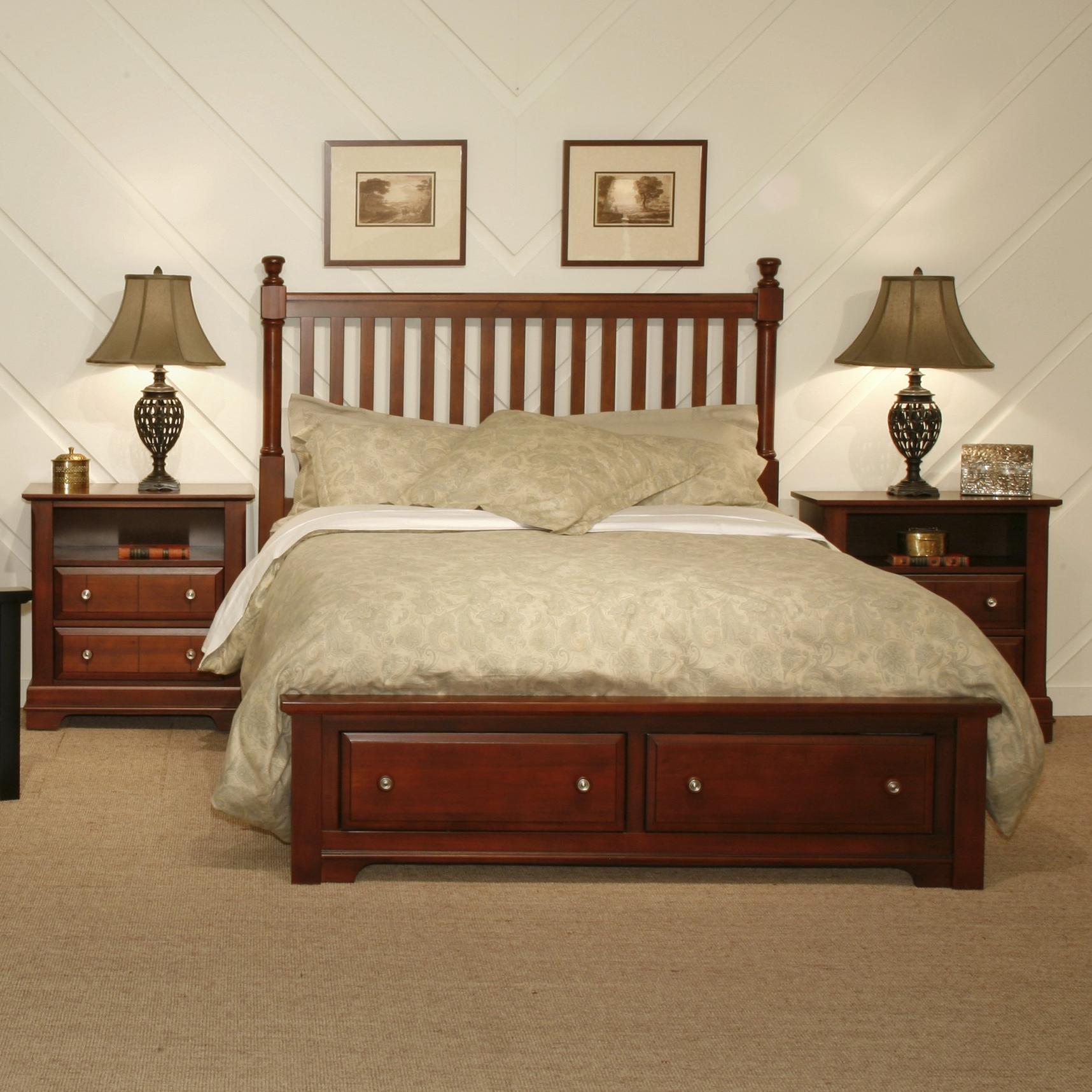 Vaughan Bassett Cottage Queen Bedroom Group  Dunk