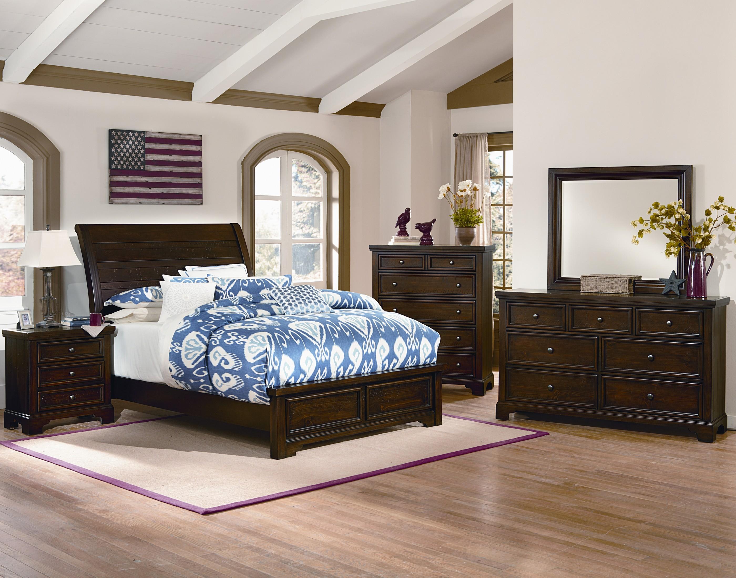Vaughan Bassett Hanover King Bedroom Group  Dunk  Bright