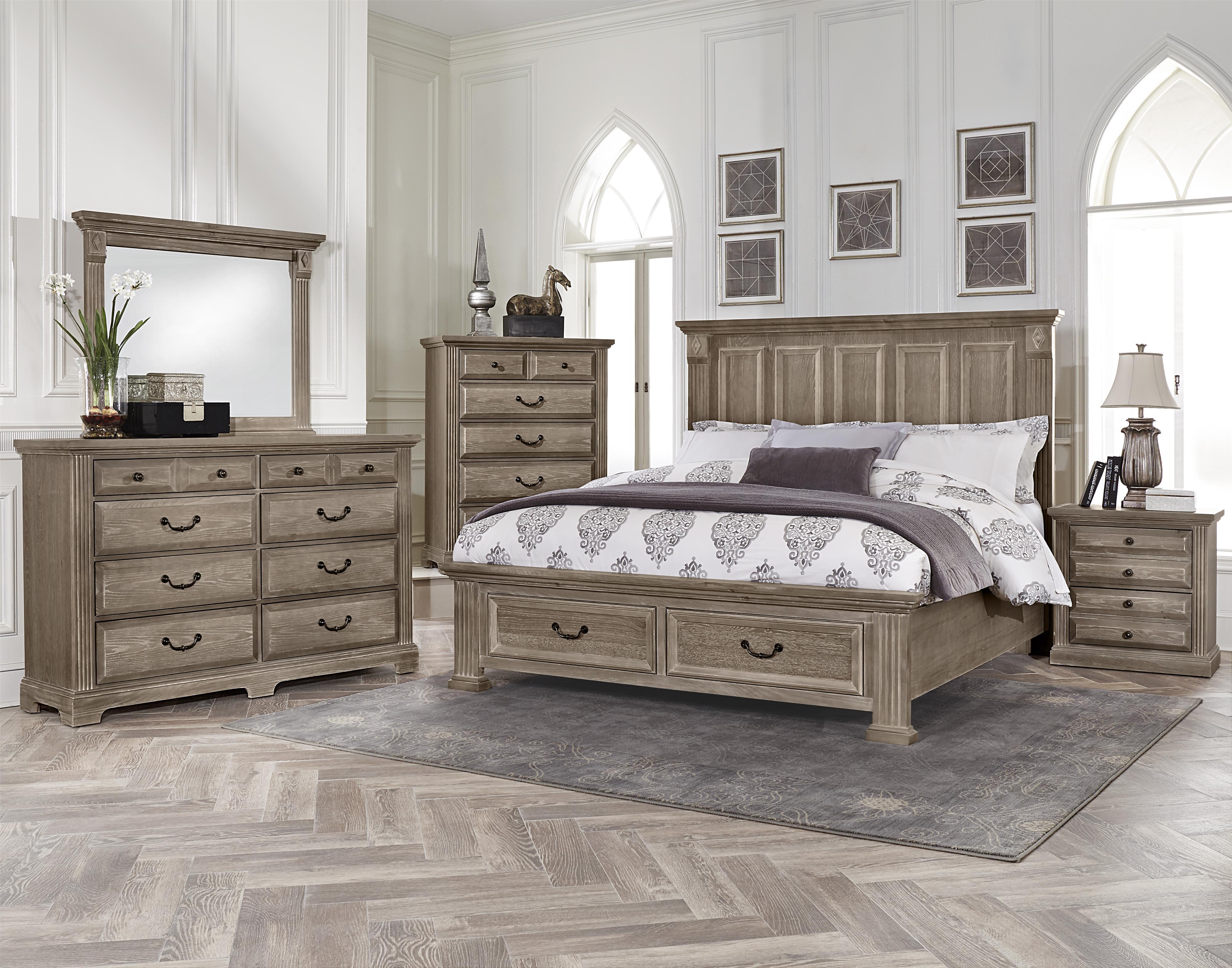 Vaughan Bassett Woodlands King Bedroom Group  Belfort
