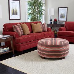 Broyhill Landon Sofa Red And White Express Stationary Living Room Group