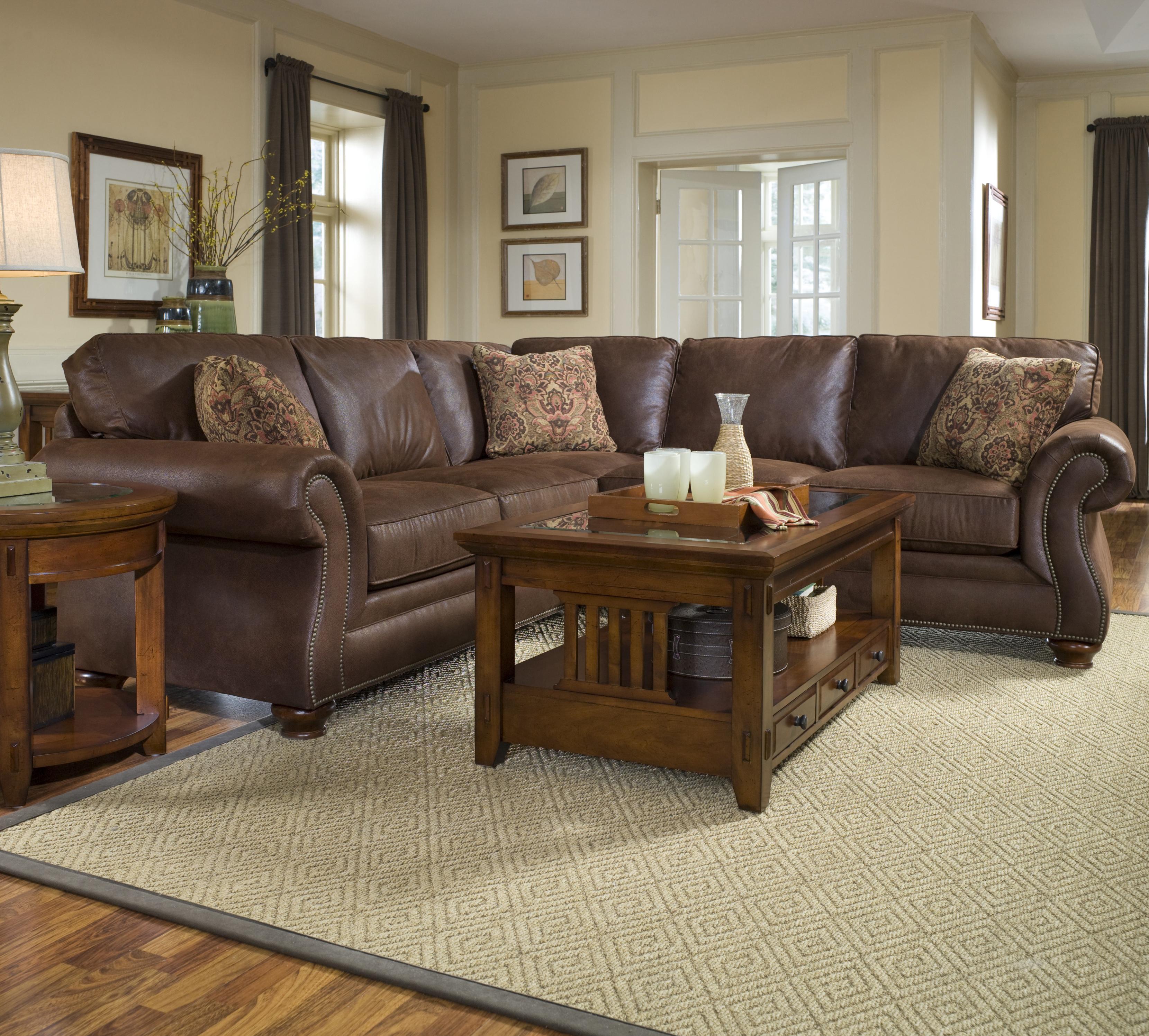 broyhill laramie sofa fabric full aniline leather sofas furniture