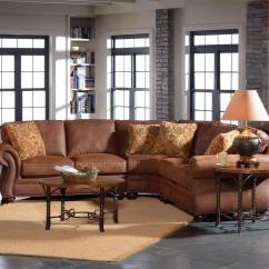 Broyhill Laramie Sofa Fabric Blue Living Room Design Furniture Recliner