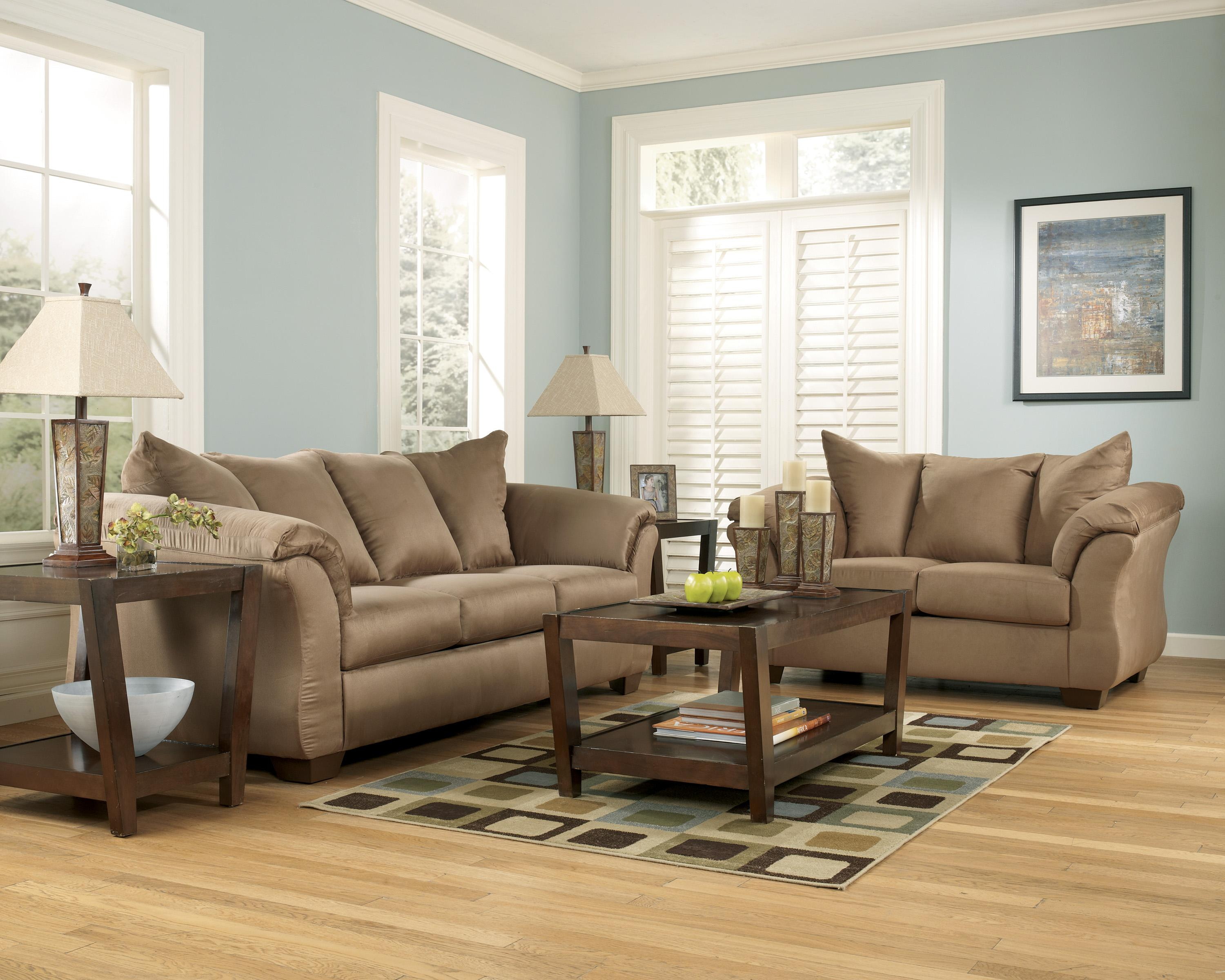 ashley furniture darcy sofa sleeper lazy boy sofas and chairs mocha hogan
