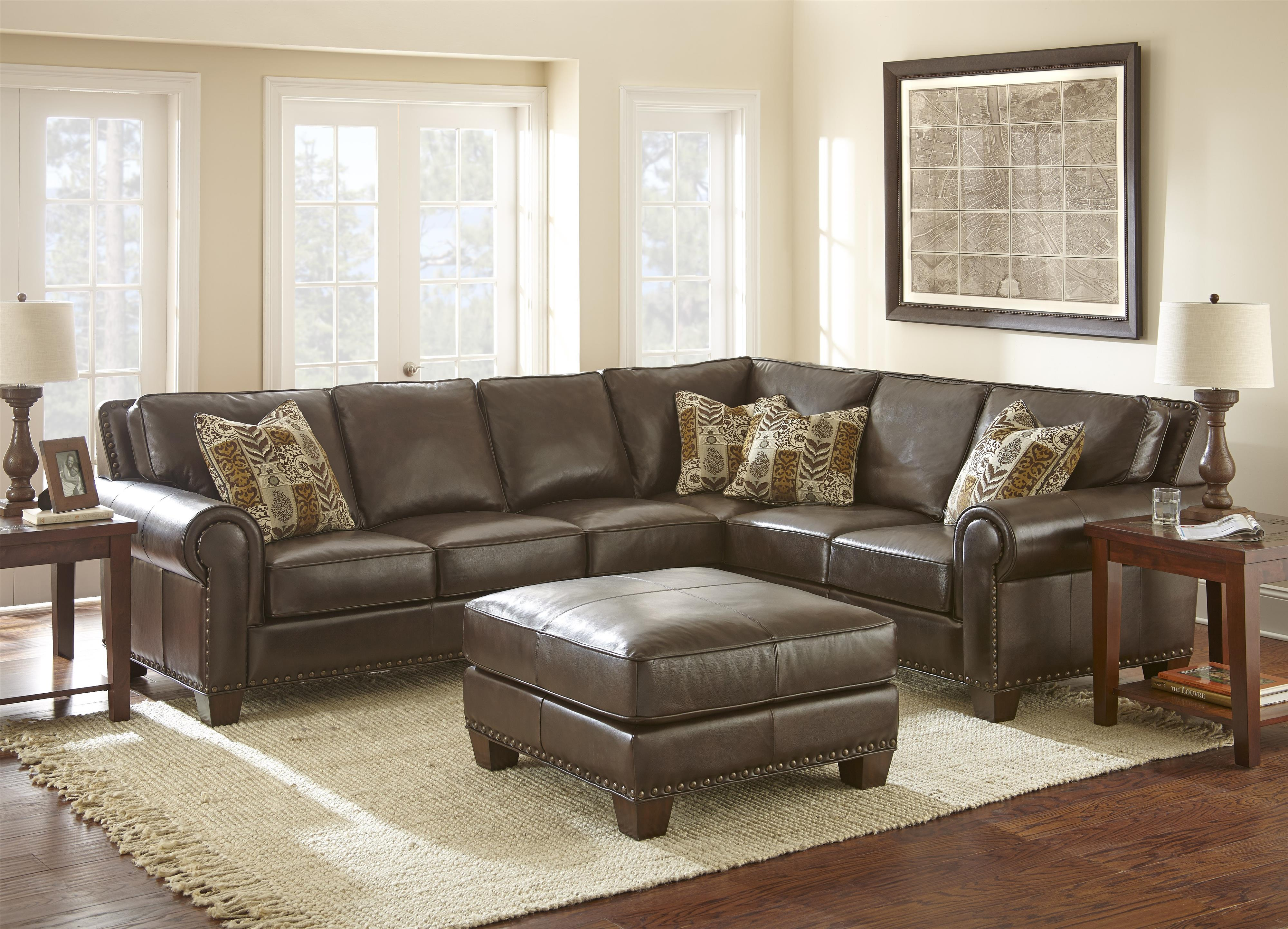grey sofa with silver nailheads cama plegable sectional kerwin 6 piece reclining