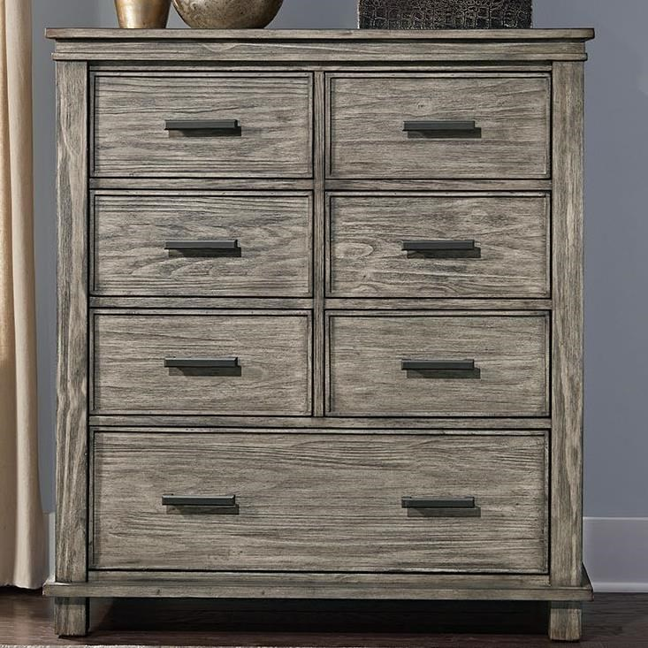 AAmerica Glacier Point Transitional Solid Wood 7 Drawer