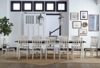 AAmerica Toluca 13 Piece Leaf Table and Slat Back Chair ...