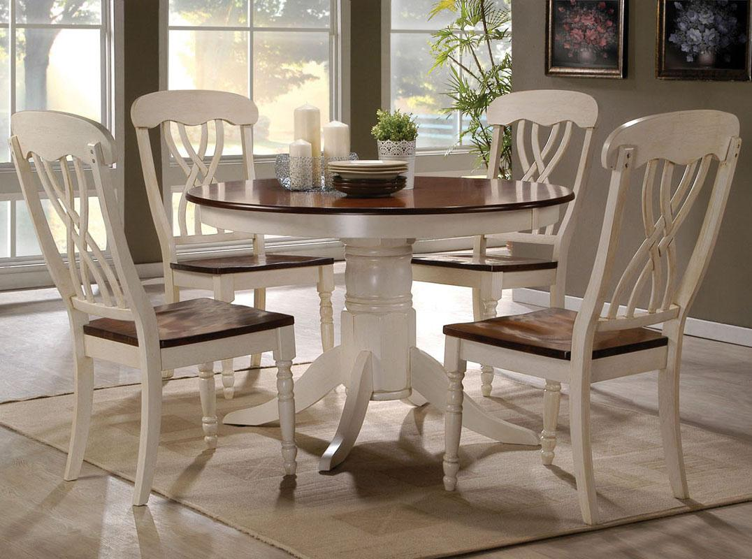 Acme Furniture Dylan Five Piece Dining Table And Side Chair Set Rooms For Less Dining 5 Piece Sets