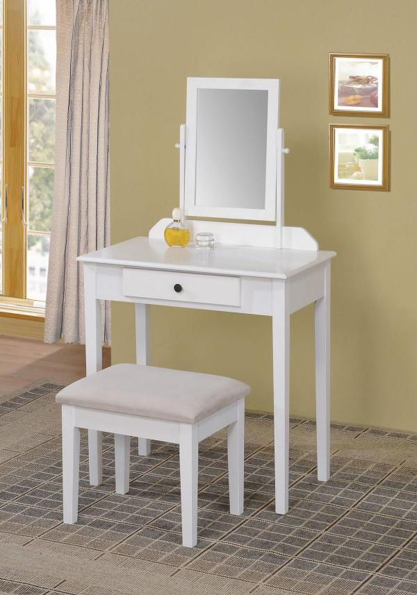 Acme Furniture Jamy 90043 2-piece Vanity Set Withstool Del Sol
