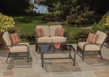 Agio Manhattan 4 Pc Outdoor Deep Seating Set Wilson'