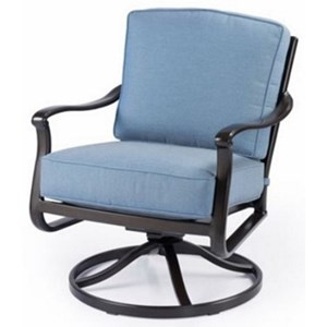 outdoor swivel rocker chair spindle legs agio parkdale acv03001p01 transitional arm with cushions
