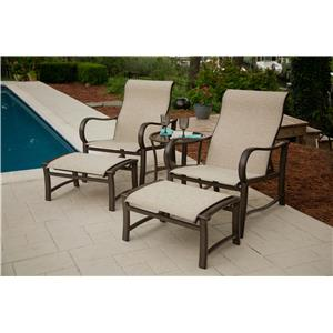 outdoor chair and ottoman plastic cover patterns ahfa half chaise set