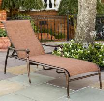 Agio Willowbrook Traditional Aluminum Sling Chaise