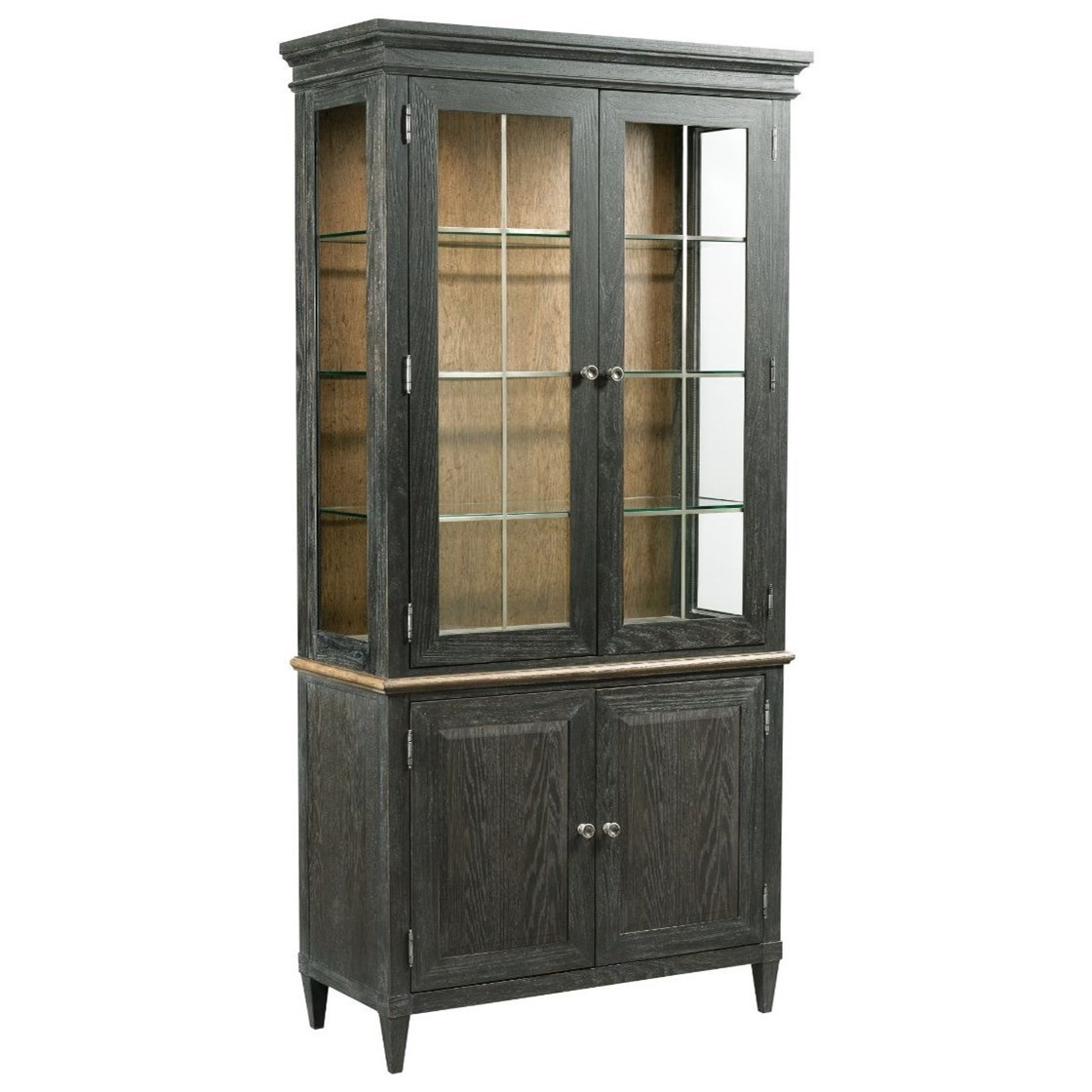 American Drew Ardennes Liege China Cabinet with Silverware