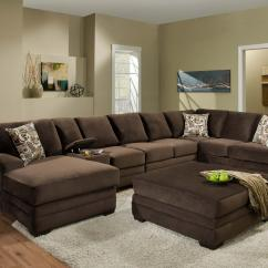 American Furniture Living Room Tables Online 3500 Contemporary Sectional Sofa With 6 Seats And Console