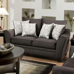 American Furniture Living Room Tables Small Table Sets 3850 Elegant Loveseat With Contemporary Style By