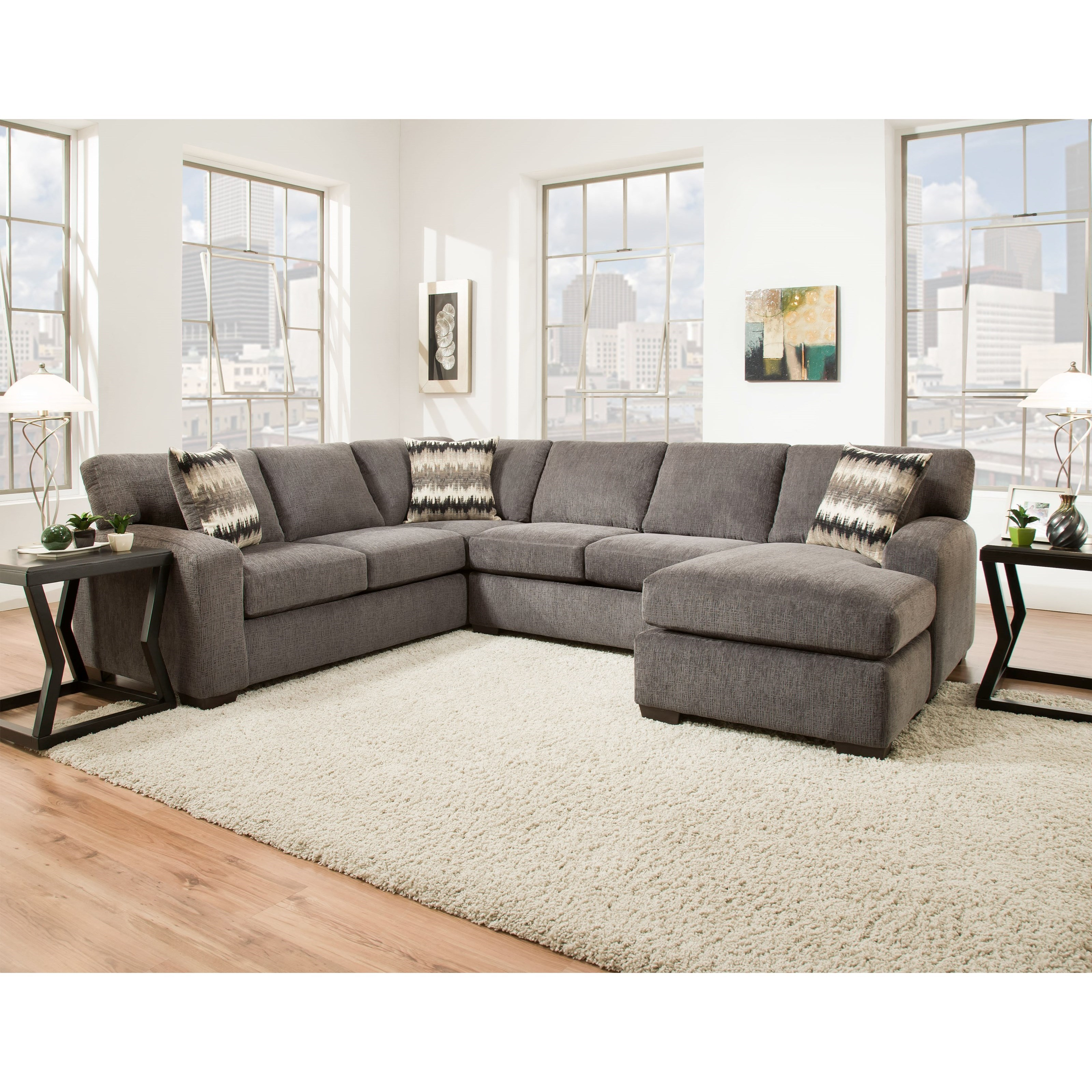 american furniture living room sectionals decorating brown leather 5250 sectional sofa seats 5 fair