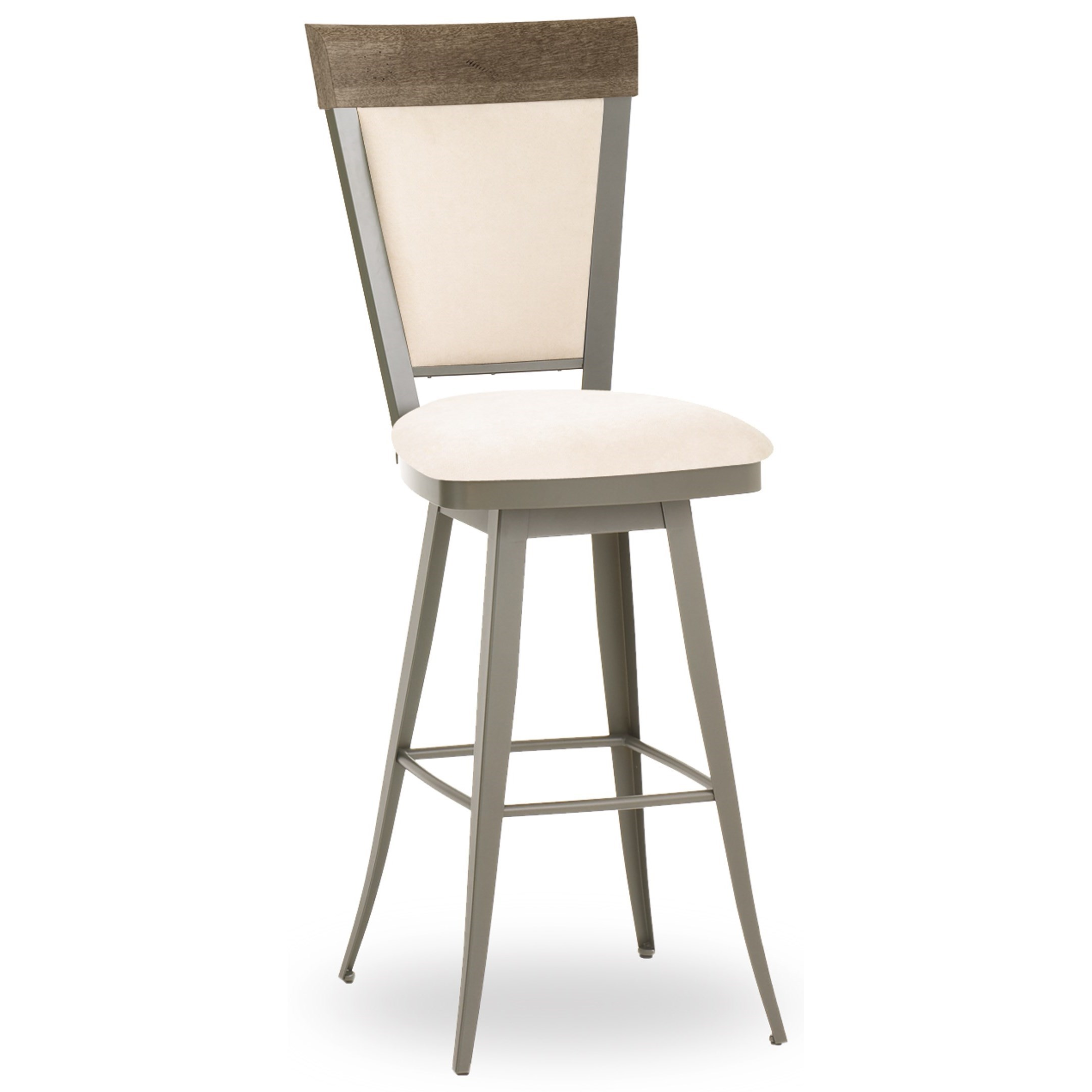 Amisco Farmhouse Customizable 30 Eleanor Swivel Bar Stool With Upholstered Seat And Back A1 Furniture Mattress Bar Stools