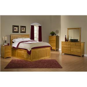 Archbold Furniture Alder Shaker Queen Bedroom Group 1