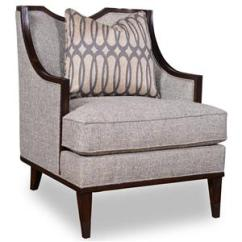 Wood Frame Accent Chairs Plastic Stacking A R T Furniture Inc Harper Mineral 161523 5036aa Transitional Chair With Exposed