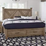 Artisan Post Cool Rustic Solid Wood King Barndoor X Bed With Storage Footboard Northeast Factory Direct Panel Beds