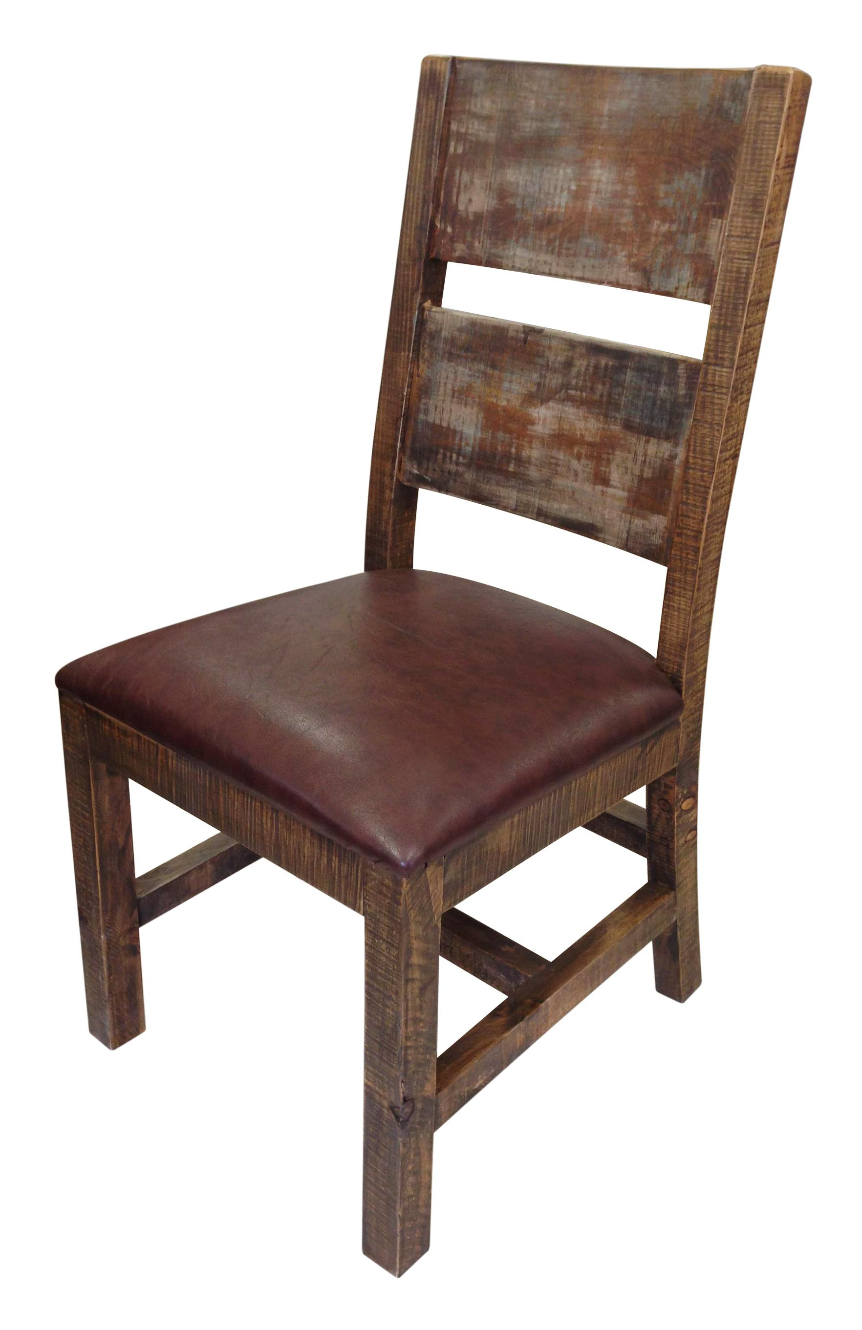 Leather And Wood Chair 900 Antique Solid Wood Chair With Bonded Leather Seat By International Furniture Direct At Dunk Bright Furniture