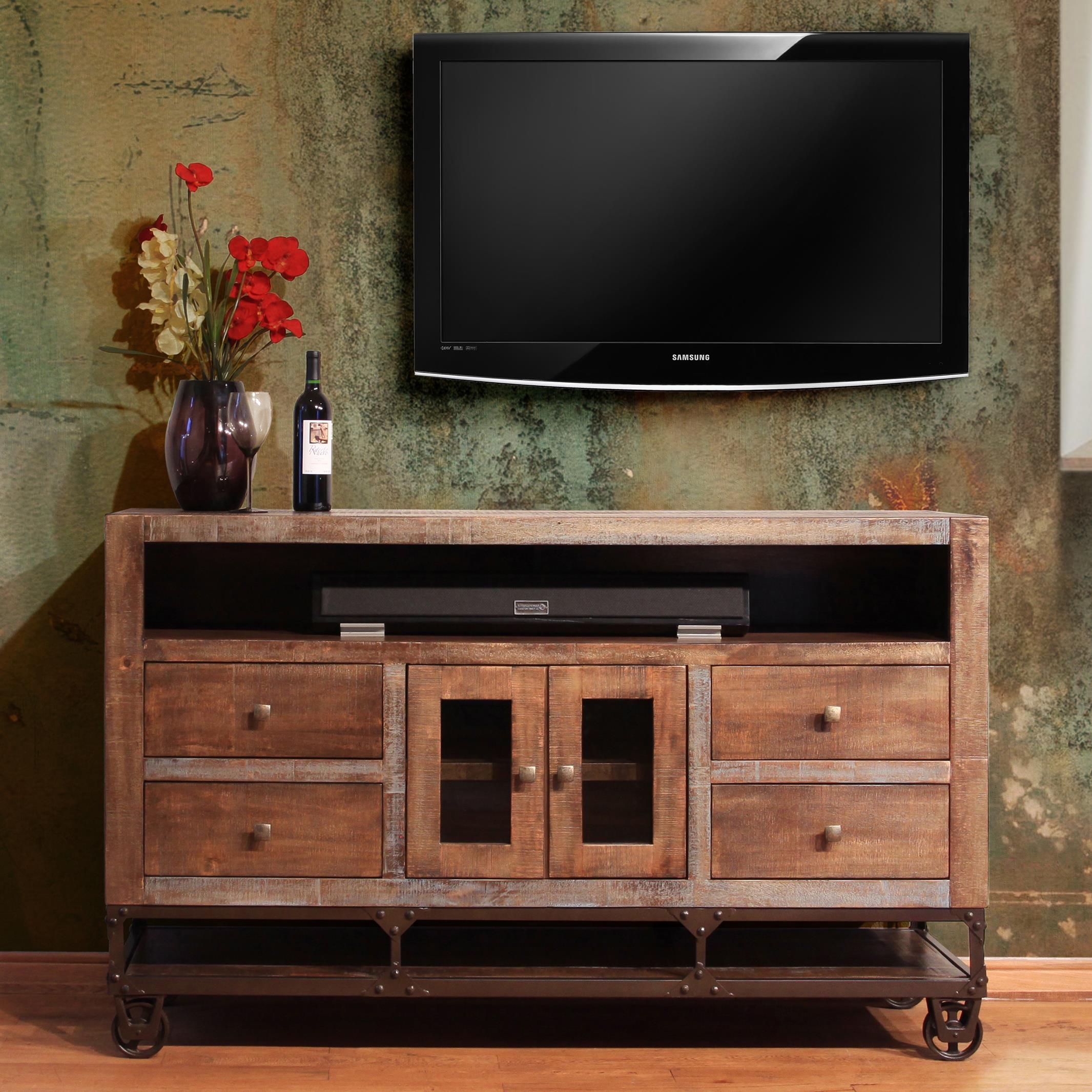 International Furniture Direct Urban Gold 62 Solid Wood