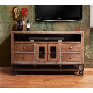 International Furniture Direct Urban Gold 76 Solid Wood