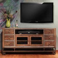 "International Furniture Direct Urban Gold 76"" Solid Wood ..."