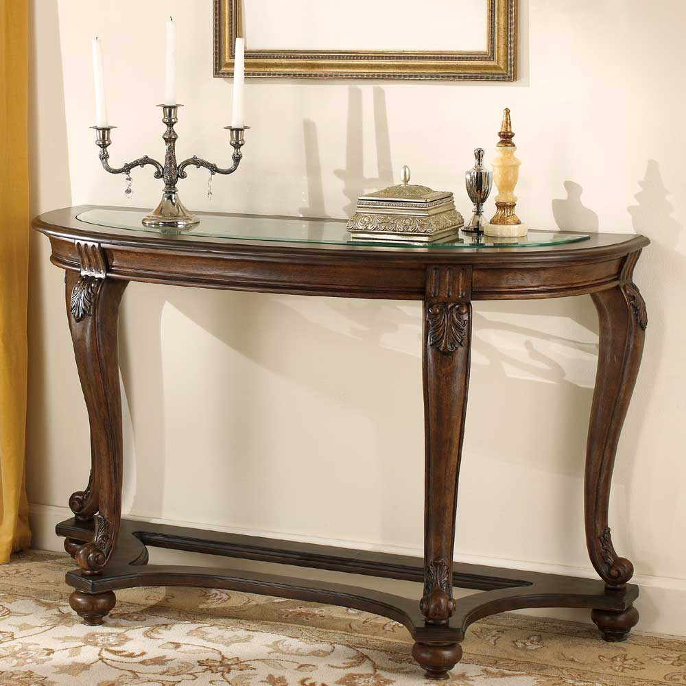 Signature Design by Ashley Norcastle Sofa Table With Glass