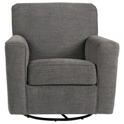 Living Room Swivel Glider Chairs Cheap Lamps Ashley Furniture Alcona Accent Chair In Gray Fabric By