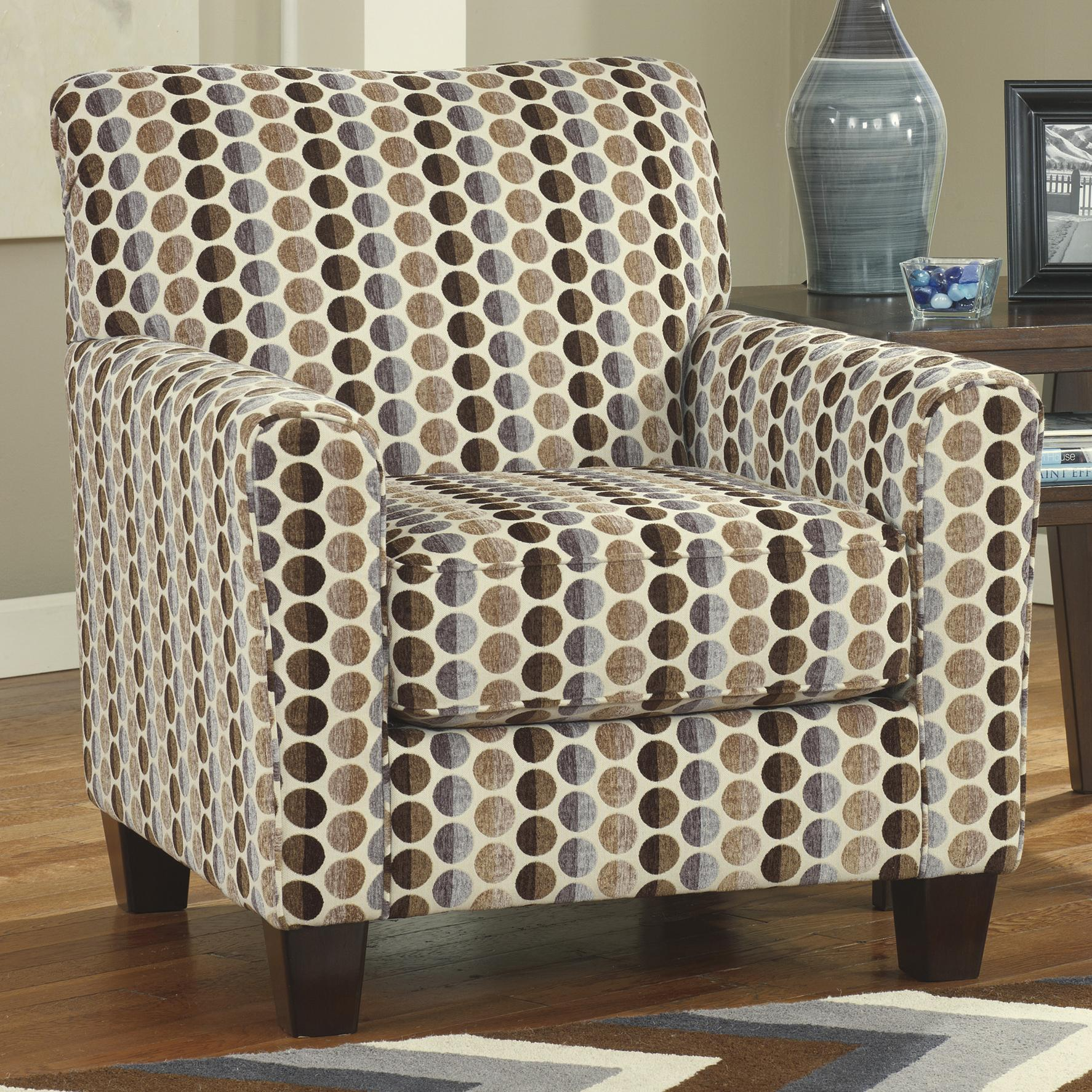 Accent Chairs Ashley Furniture Ashley Furniture Geordie Contemporary Accent Chair With Circle