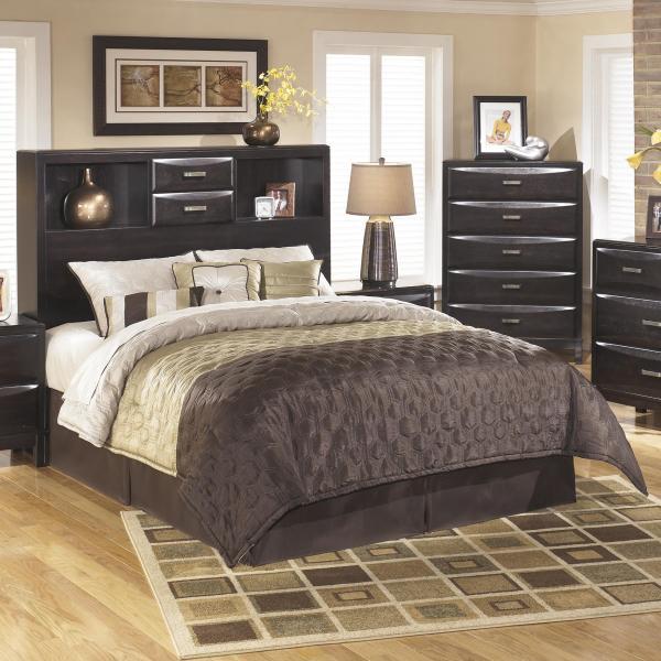 Ashley Furniture Kira King Cal Storage Headboard Rife' Home Headboards