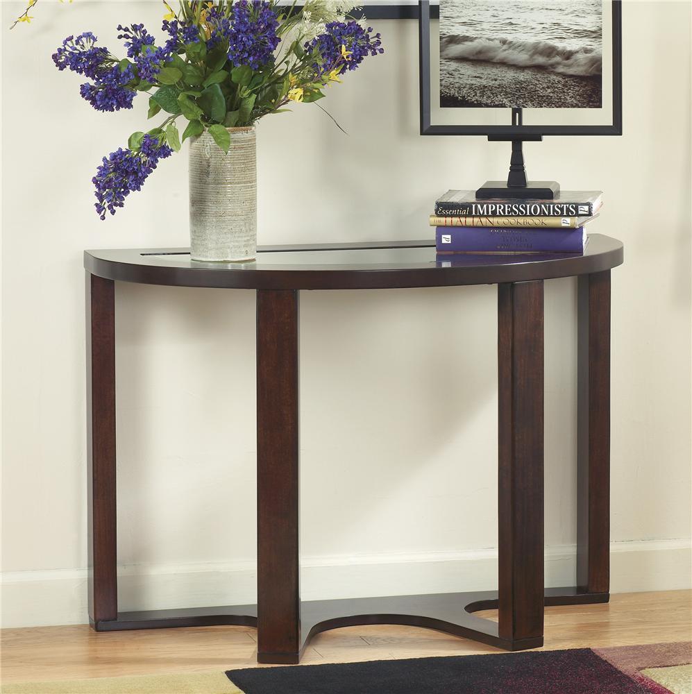 Signature Design by Ashley Marion T4774 Demilune Sofa Table  John V Schultz Furniture  Sofa Table