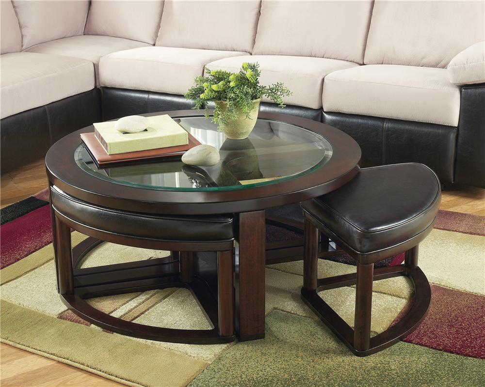 marion round cocktail w 4 backless stools