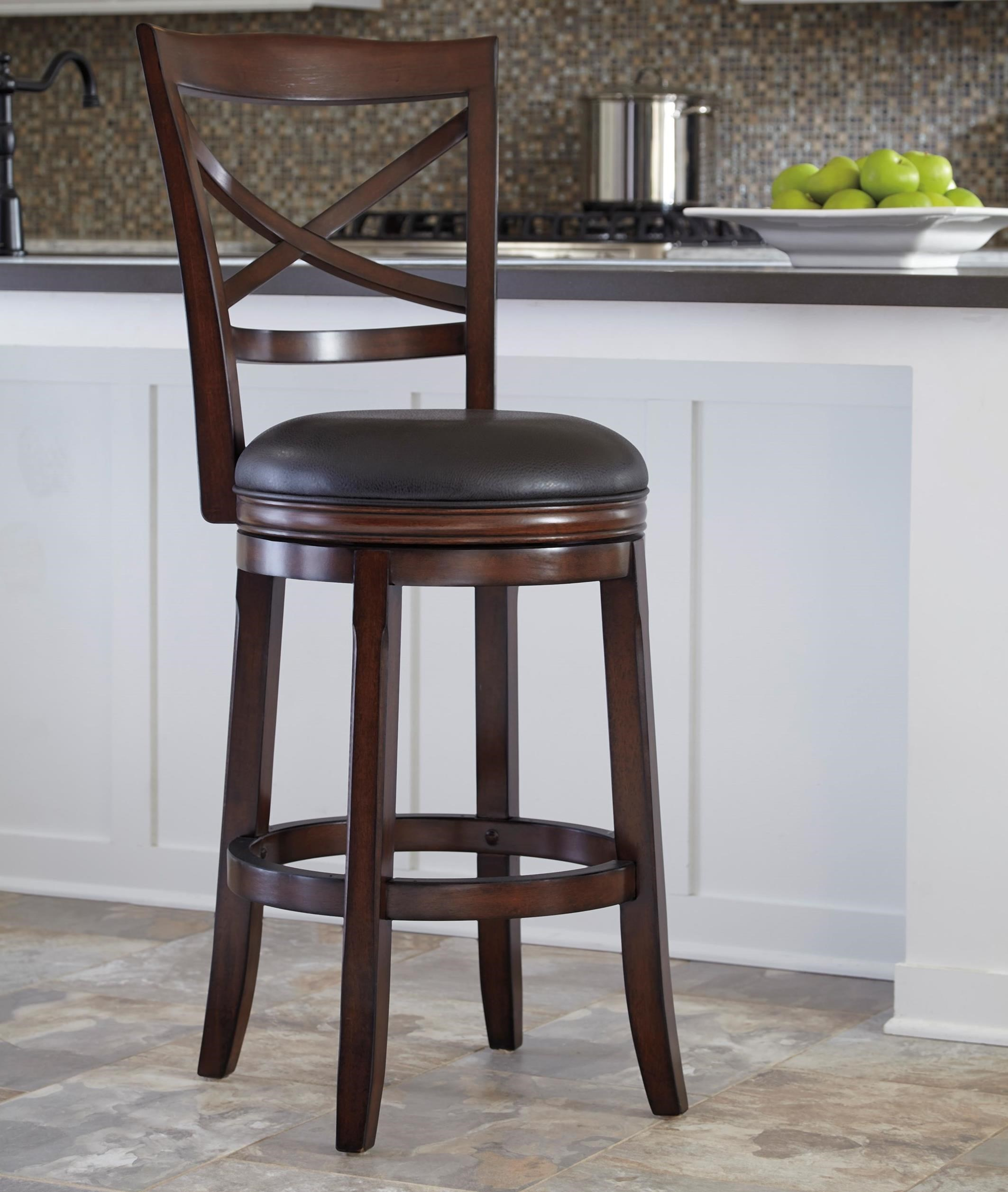 Upholstered Bar Chairs Porter Bar Height X Back Tall Upholstered Swivel Barstool By Millennium At Wayside Furniture