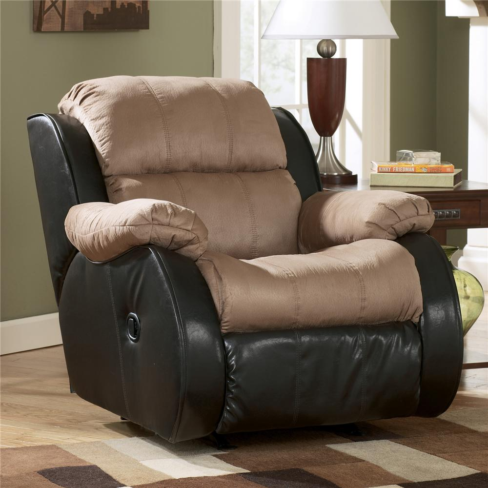 Ashley Furniture Recliner Chairs Ashley Furniture Presley Cocoa Casual 2 Tone Rocker Recliner
