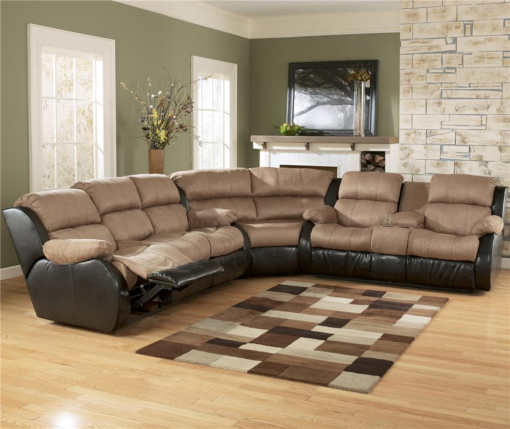 L Shaped Leather Reclining Sectional