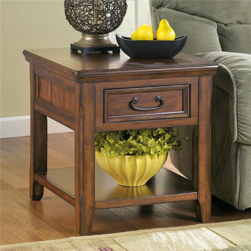 Signature Design By Ashley Woodboro Rectangular End Table