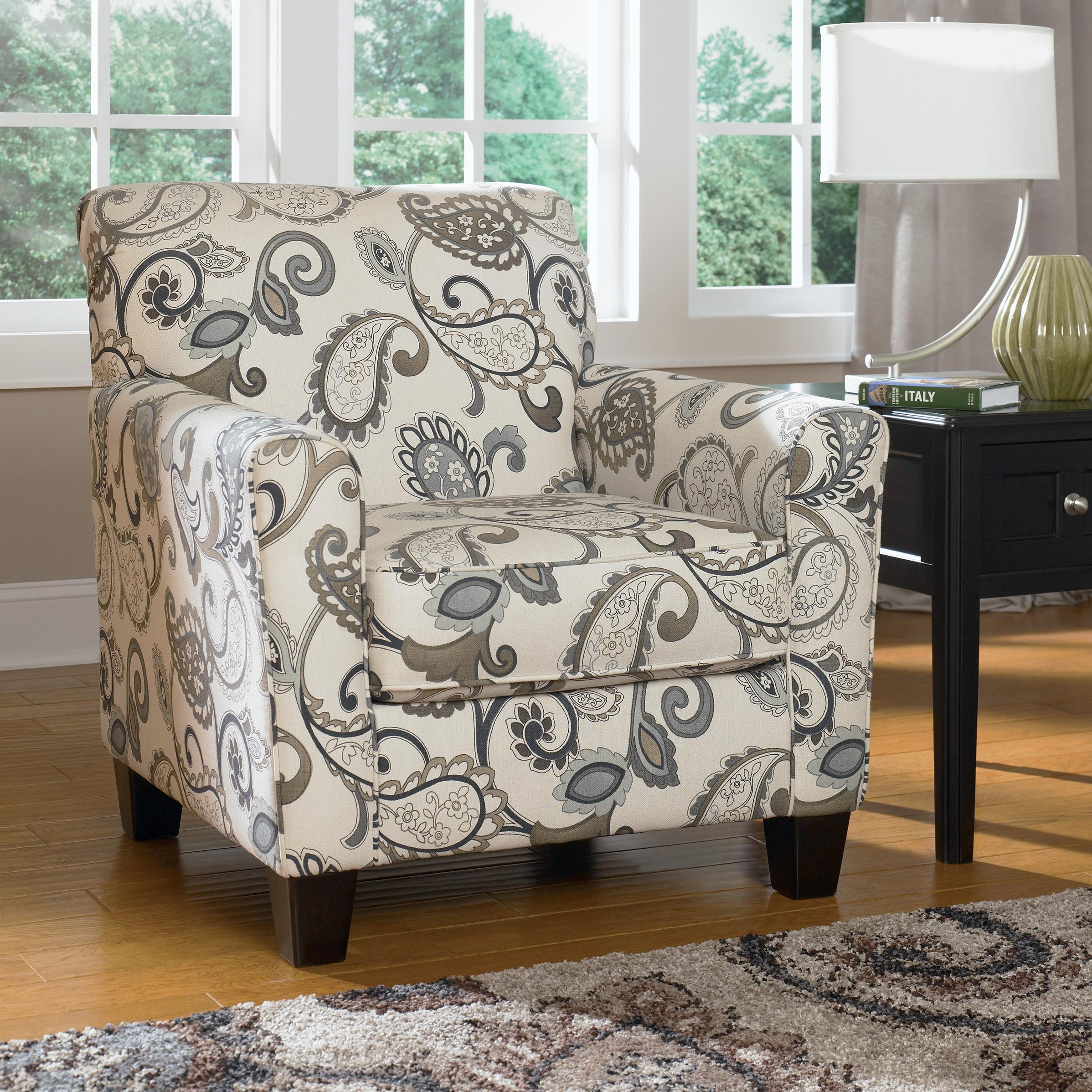 Accent Chairs Ashley Furniture Ashley Furniture Yvette Steel Accent Chair W Loose Seat Cushion
